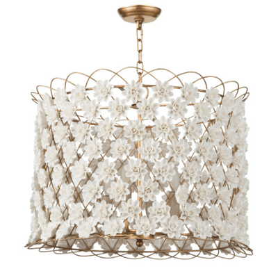 Porcelain Flower Drum Chandelier - Sarah Virginia Home