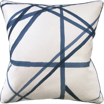Channels Throw Pillow (Indigo) - Sarah Virginia Home