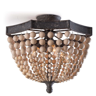 Natural Beaded Semi Flush Mount - Sarah Virginia Home