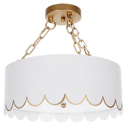 Scalloped Semi-Flush Mount - Sarah Virginia Home