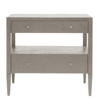 Conrad Nightstand (Double, Gray) - Sarah Virginia Home