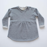 Tunic Sweatshirt in Mini Stripe