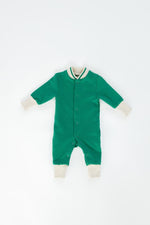 Fleece Romper, Emerald