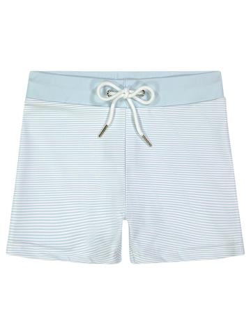 Petit Peony Nantucket Blue Stripe Swim Short