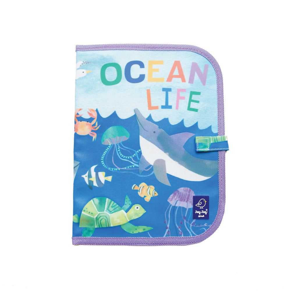 Jaq Jaq Bird Doodle It & Go Erasable Mat - Hello, World! Ocean Life