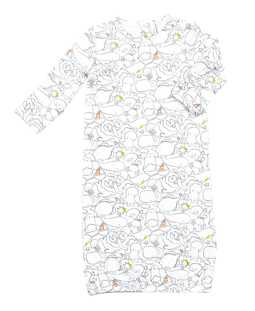 Sea Life Gown, 0-3M