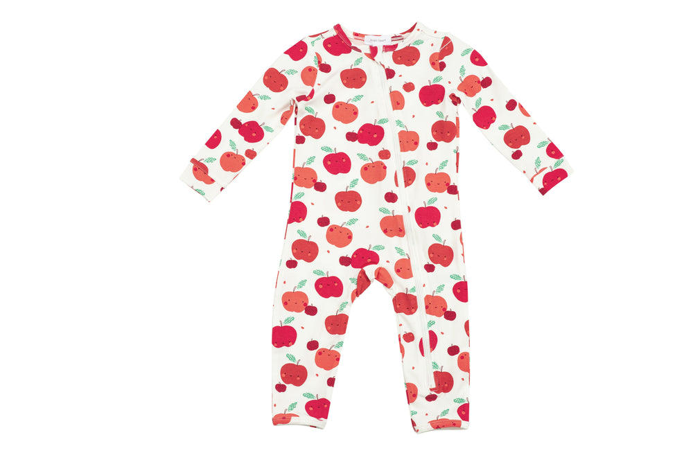 Apple Orchard Zippered Romper