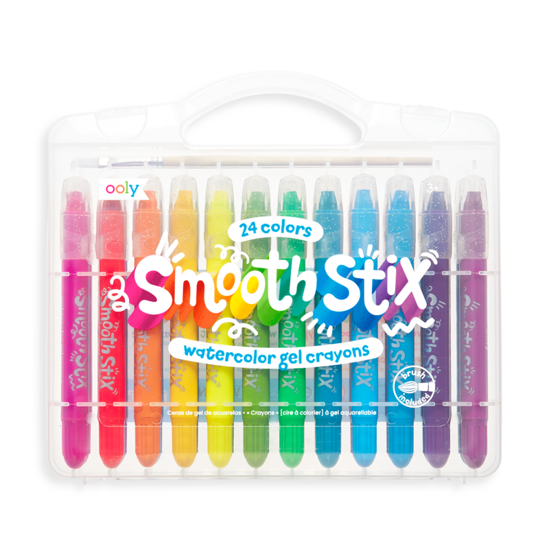 Smooth Stix Watercolor Gel Crayons - Set of 24