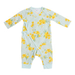 Daffodils Wrap Coverall, Mint