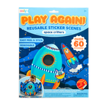 Play Again Reusable Stickers - Space Critters Ooly