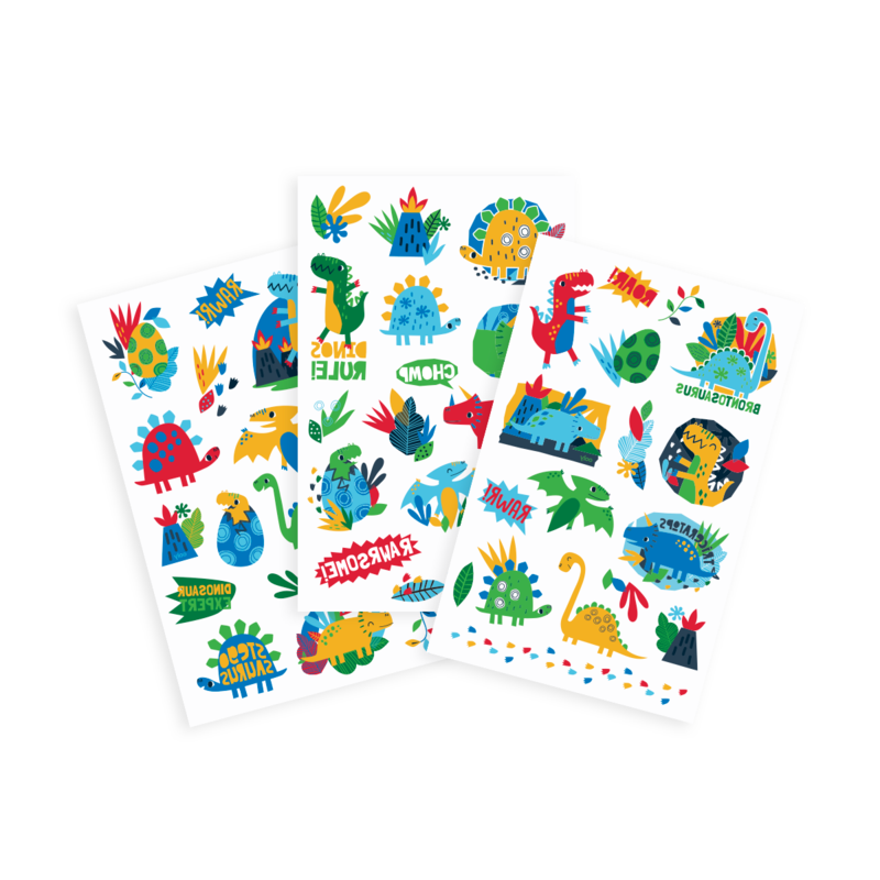 Ooly Tattoo Palooza: Dino Days Temporary Tattoos - 3 Sheets