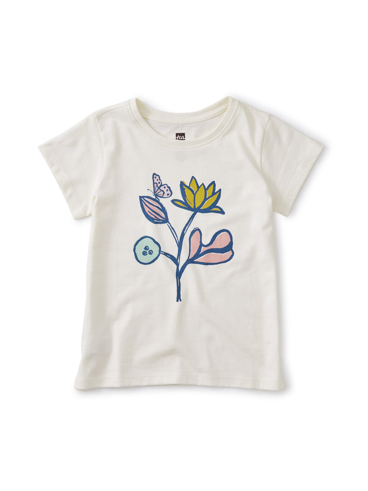 Flower Power Graphic Tee, Chalk