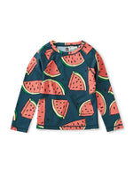 Long Sleeve Rash Guard, Watermelons