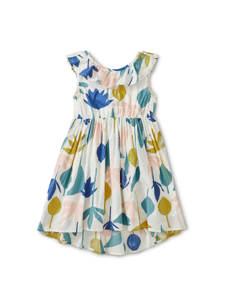 Ruffle Hi-Lo Dress, Egyptian Floral
