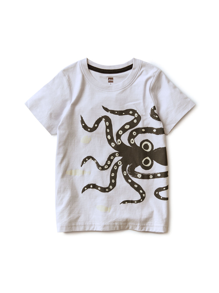 Wiggly Octopus UV Graphic Tee, Ice