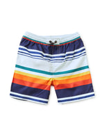 Mid-Length Swim Trunks, Cairo Stripe