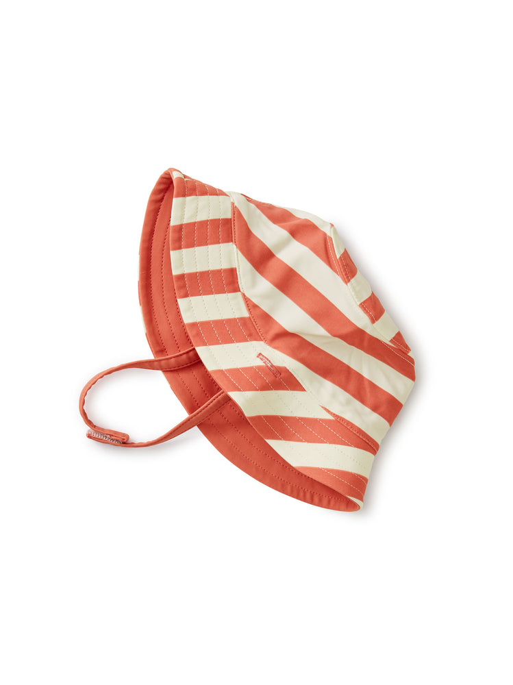 Reversible Sun Hat, Stripe - Mauveglow