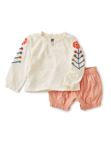 Embroidered Outfit, Chalk