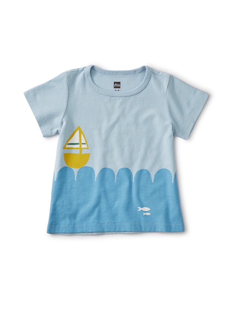 Set Sail Baby Tee, Cashmere Blue