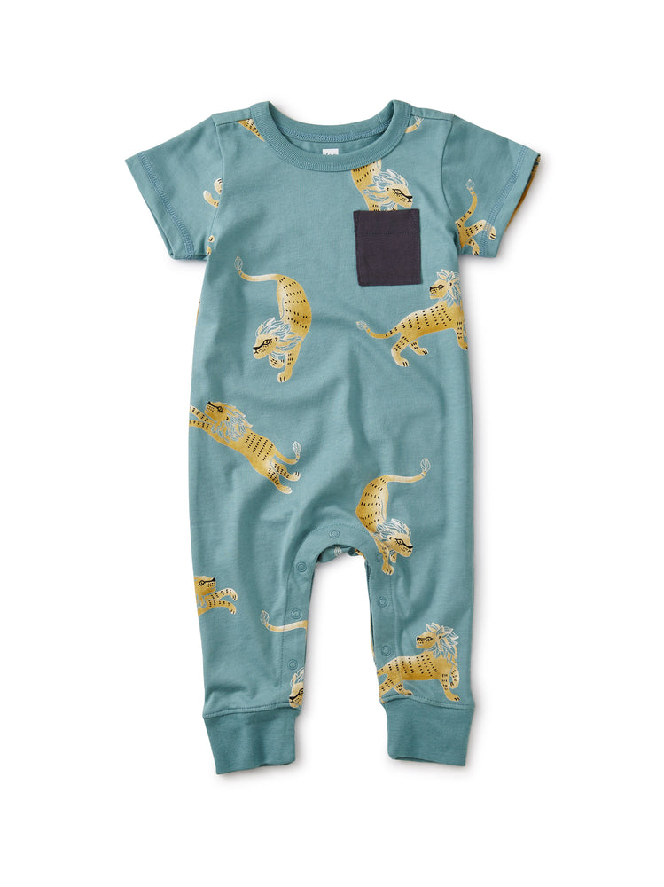 Cuffed Pocket Romper,Barbary Lion