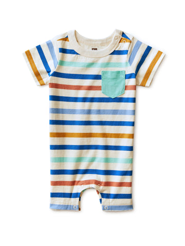 Chest Pocket Romper, Birch