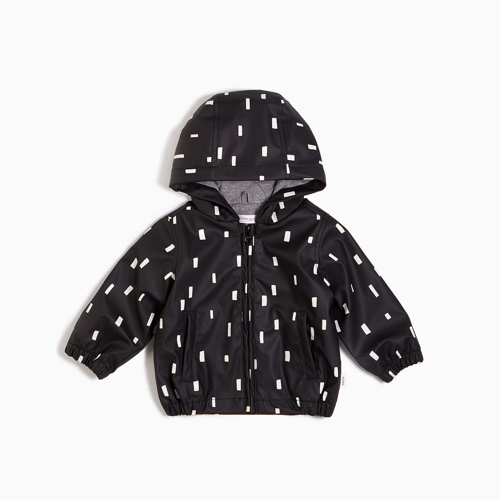 ''MILES BASIC'' Black Play Block Rain Jacket