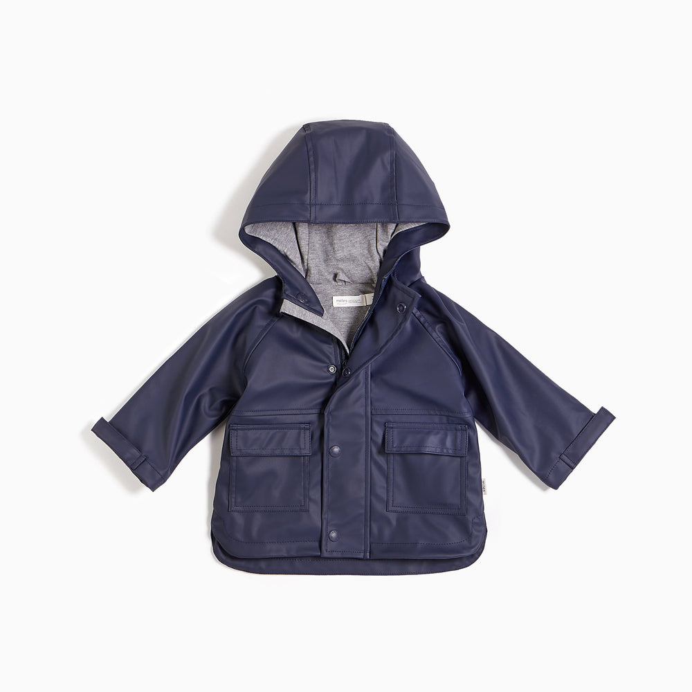 ''MILES BASIC'' Navy Anorak Rain Jacket