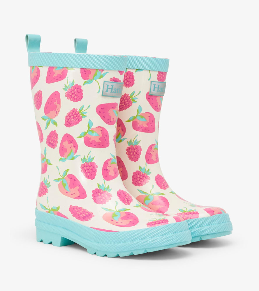 Hatley Delicious Berries Shiny Rain Boots