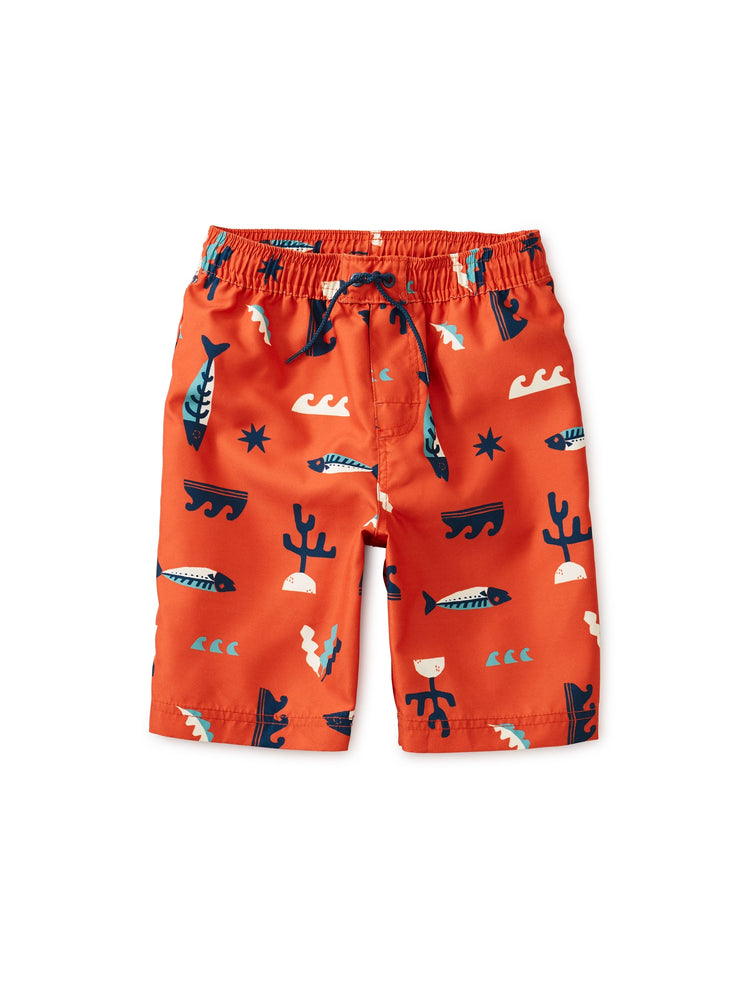 Printed Swim Trunks, Under the Sea