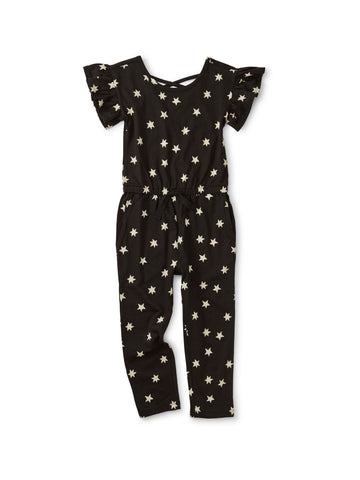 Scoop Back Ruffle Jumpsuit, Stars