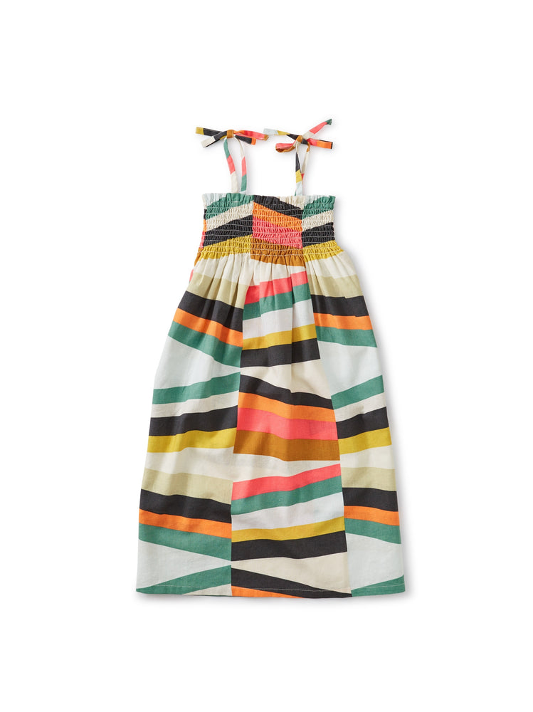 Tie Shoulder Midi Dress, Rug Chevron