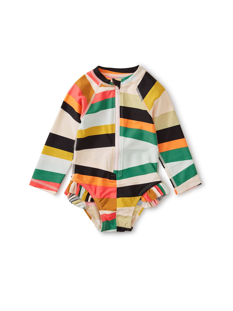 Baby Rash Guard One-Piece, Rug Chevron