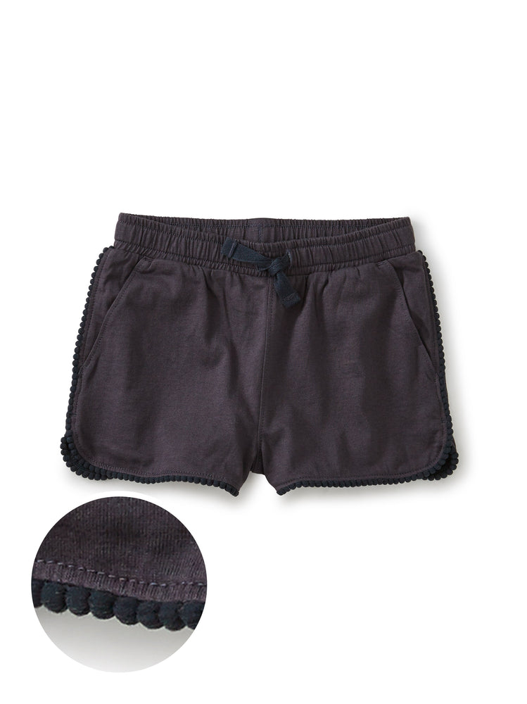 Pom Pom Trim Shorts, Indigo Tea Collection
