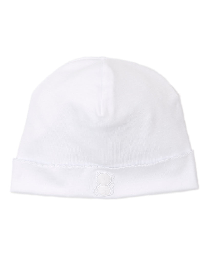 Pique Bare Backs Hat, White