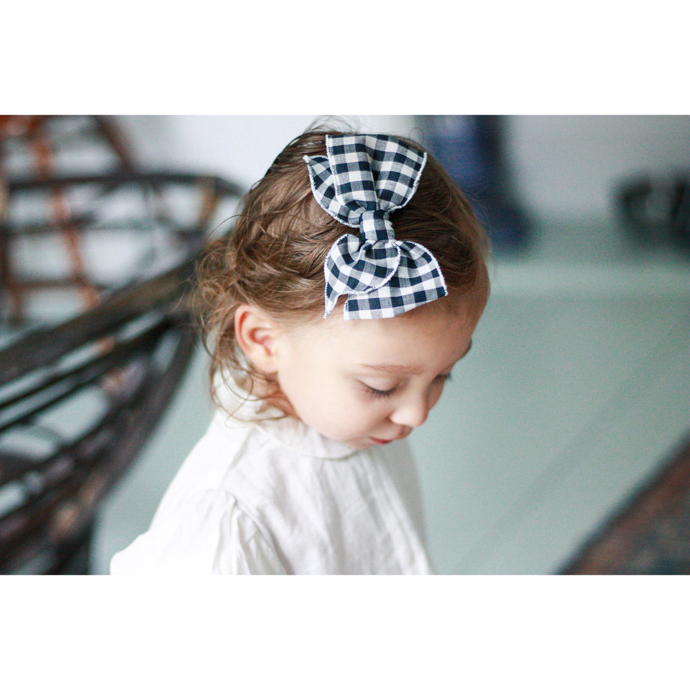 Eve Small-Hemmed-Edge Hair Bow