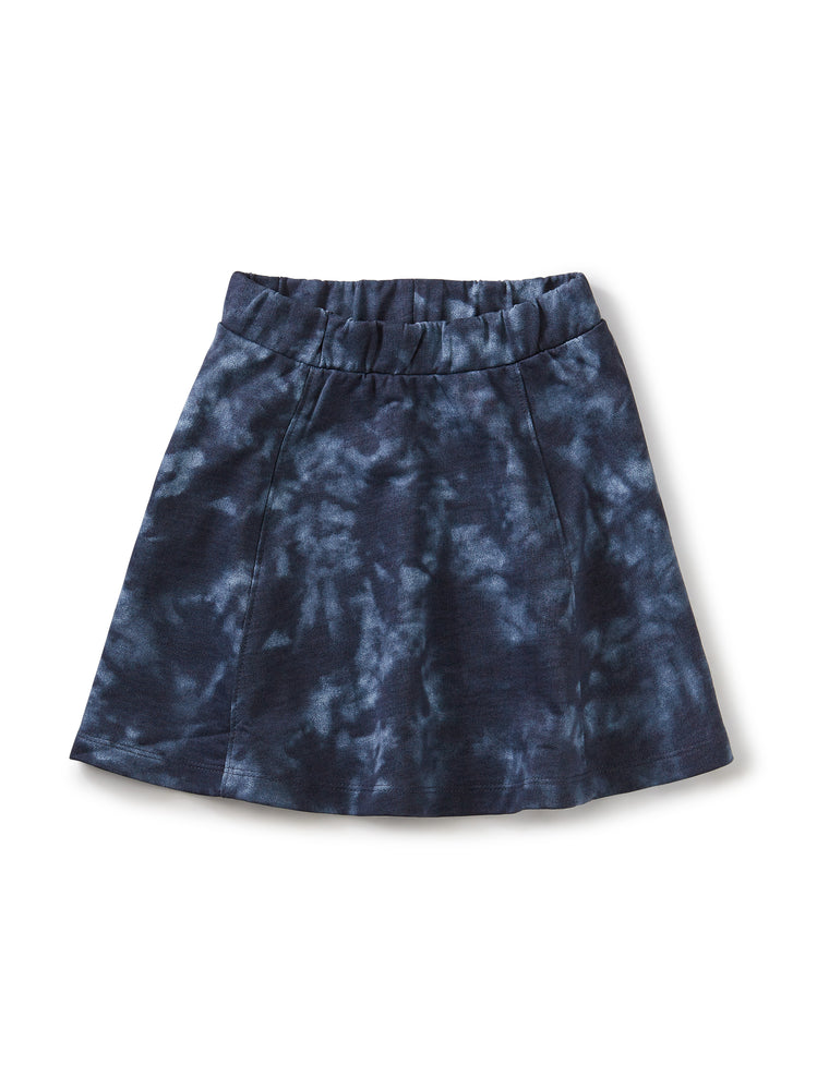 Twirl Skirt, Deep Blue Tie Dye