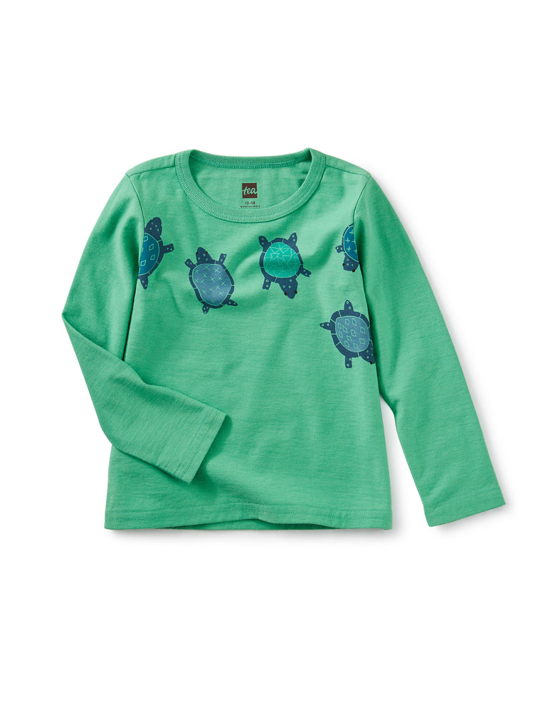 Tea Collection Totally Turtle Graphic Tee, Green Spruce