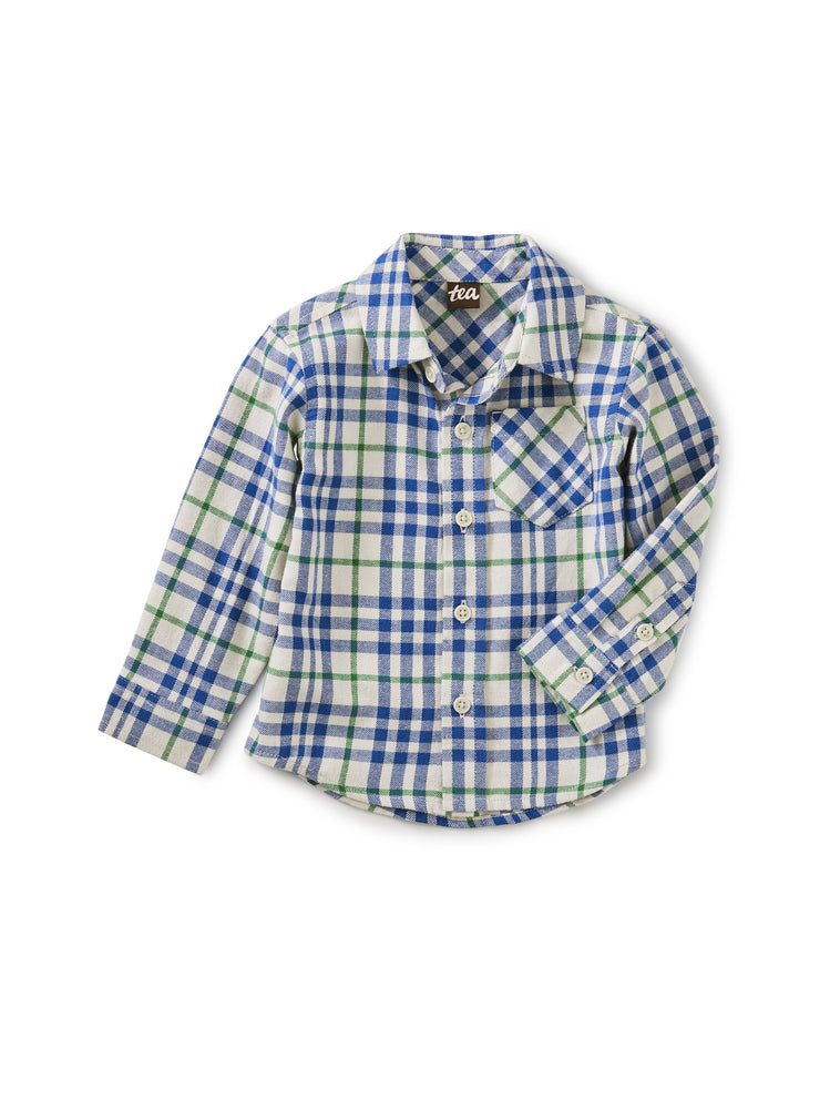 Flannel Baby Shirt, Alpamayo Plaid