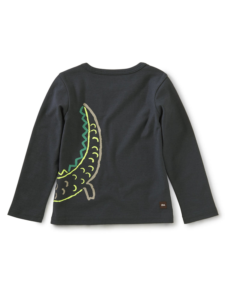 Awesome Alligator Graphic Tee, Indigo