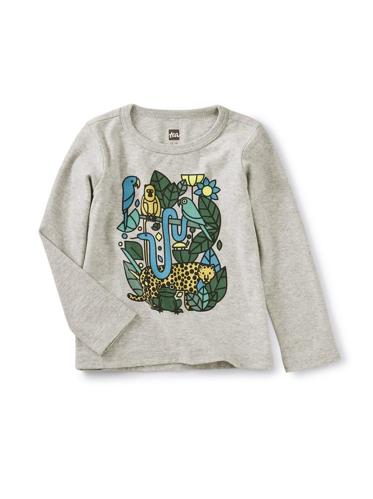 Incan Animals Graphic Tee, Heather Gray