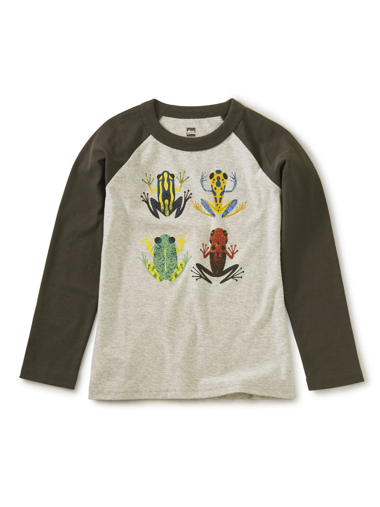 Cloud Forest Frogs Raglan Graphic Tee Tea Collection