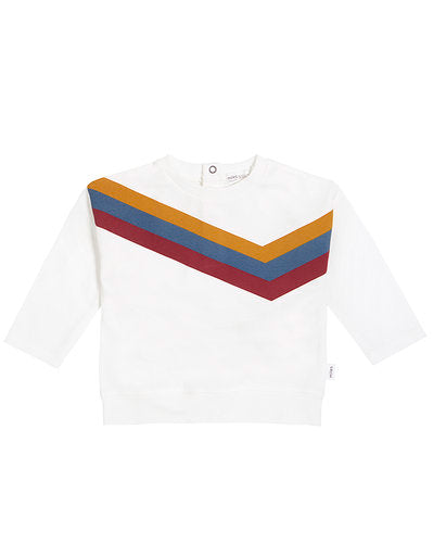 Miles Baby Arcade Game Knit Top, Off White