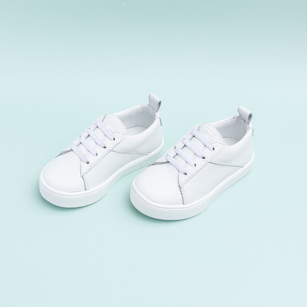 White Classic Lace Up Sneaker Freshly Picked