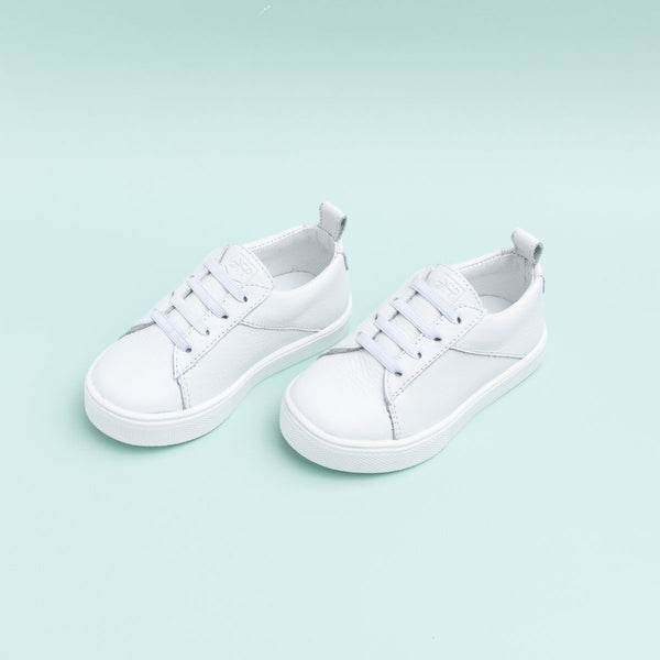 White Classic Lace Up Sneaker