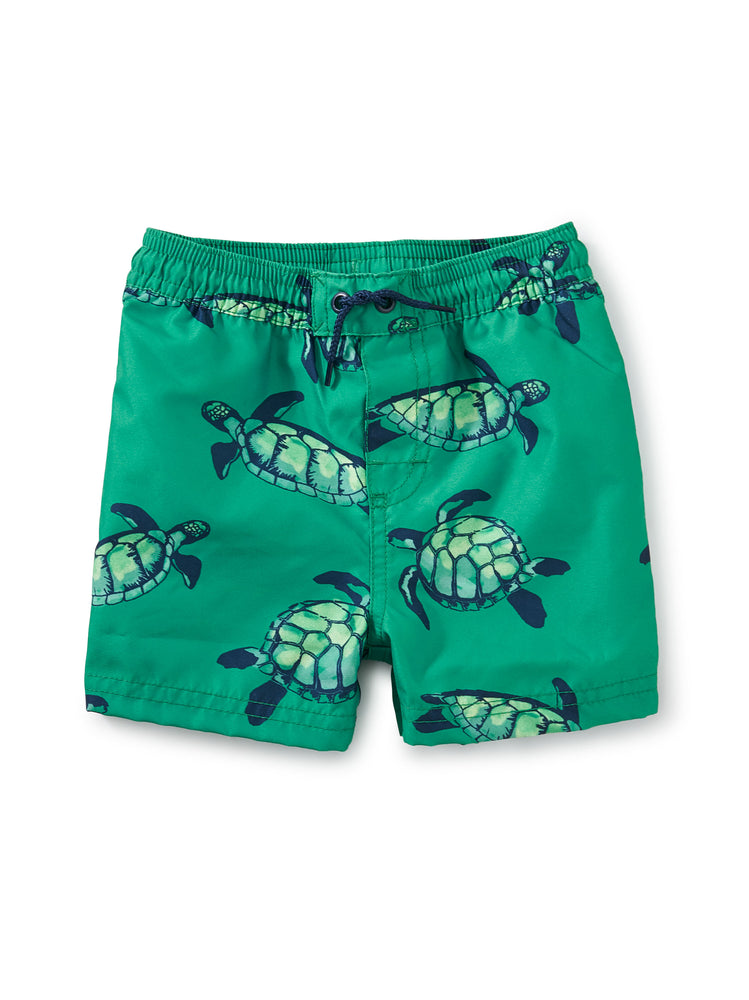 Tea Collection Full-Length Swim Trunks, Sea Turtles