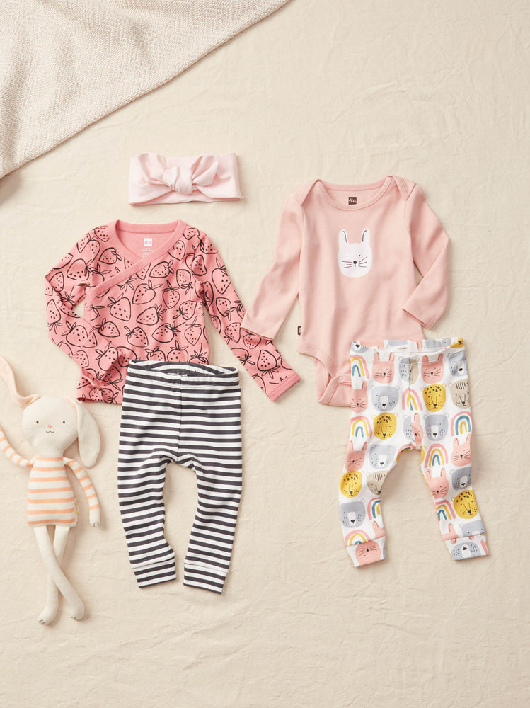 Wrap Top Baby Outfit, Strawberries
