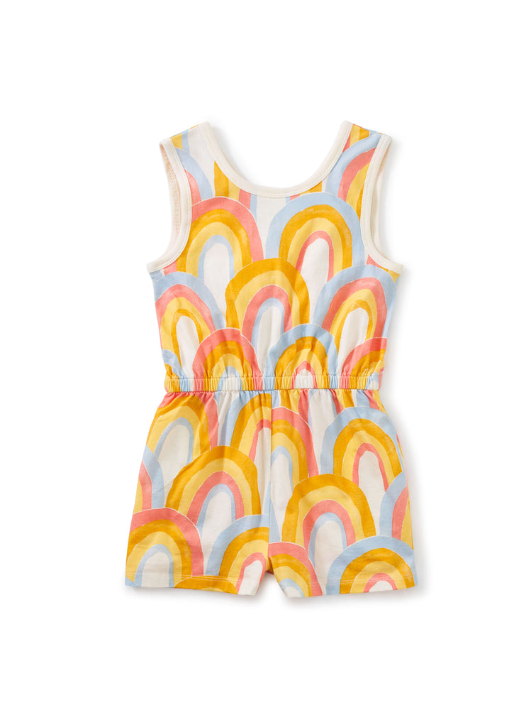 Reversible Wrap Romper, Rainbows