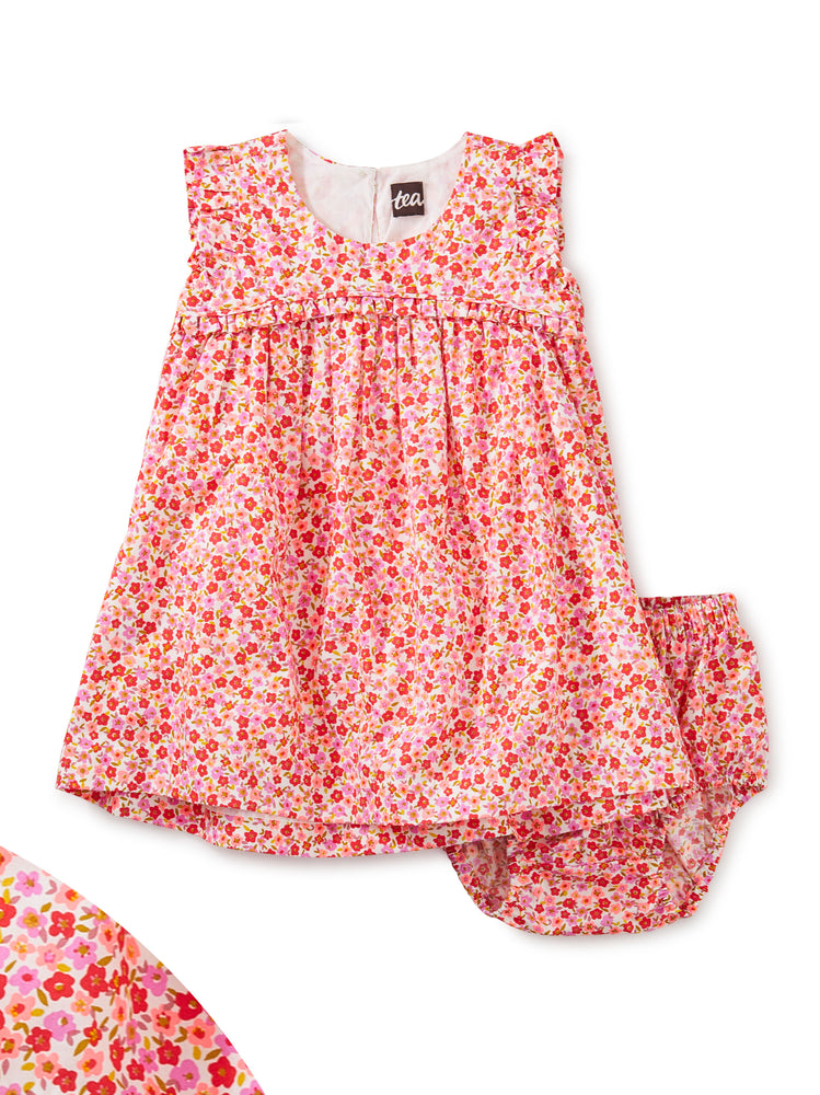 Tea Collection Empire Flutter Baby Dress Set, Wildflowers in Scarlet