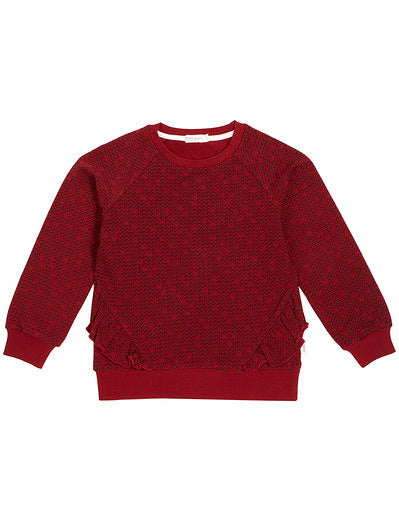 Arcade Game Knit Top, Red