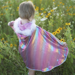 Rainbow Princess Cape, 4-6Y
